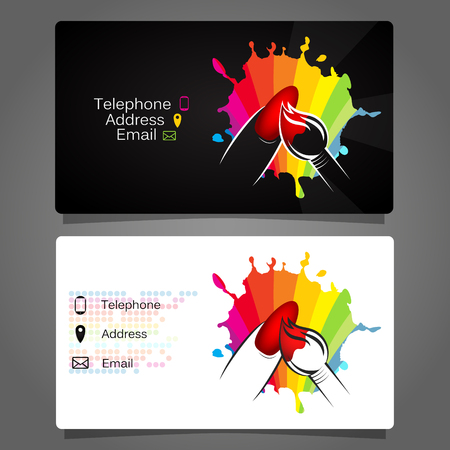 Business card for manicure design for business
