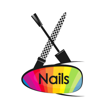 Design for manicure and pedicure nail vector