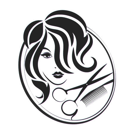 un symbole pour les salons de beauté et un coiffeur
