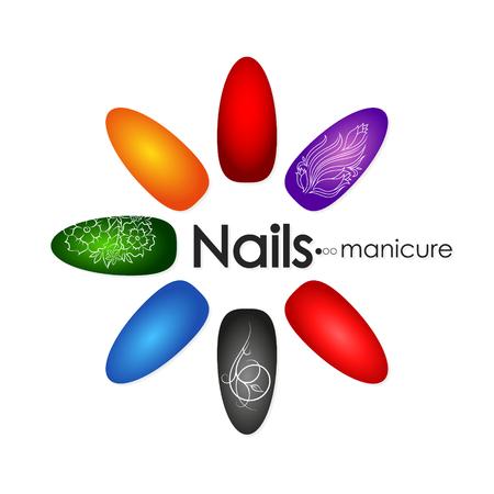 Symbol for manicure and pedicure nail design