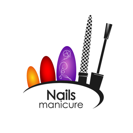 Manicure and pedicure nail design vector for business