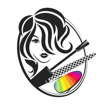 Manicure and pedicure salon for women design Illustration