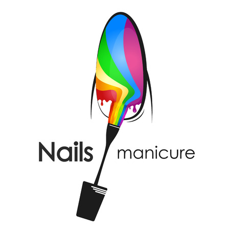 Painting and manicure of nail design for business Illustration