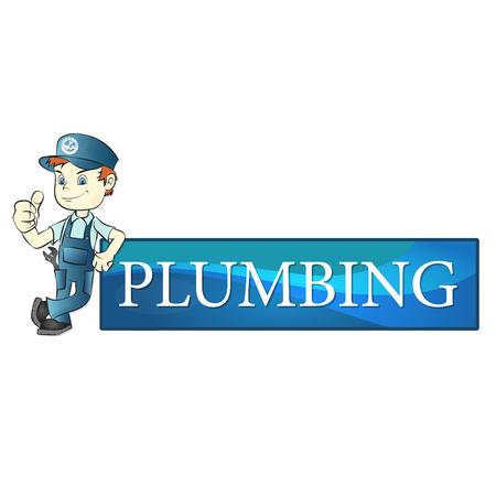 Plumbing repair banner business design vector illustration.