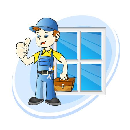 Windows installer for business illustration