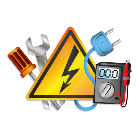 Electricity tools set for business vector