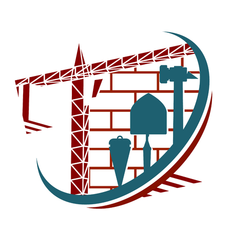 construction: Building construction symbol vector