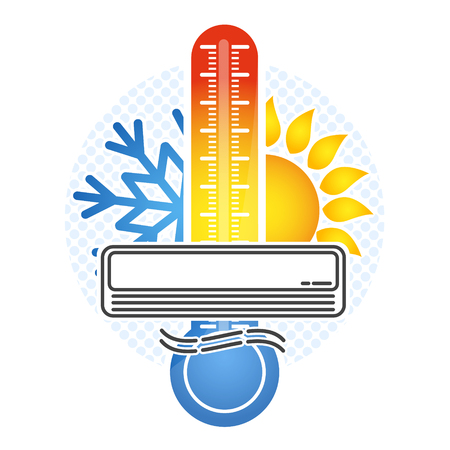 Room temperature control symbol for a vector 일러스트
