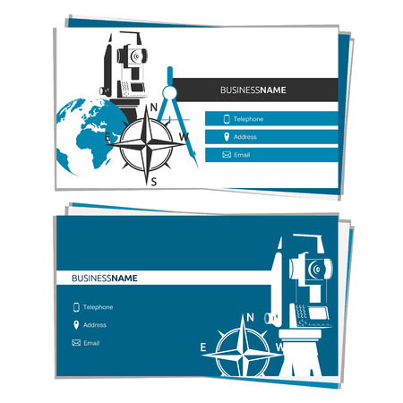 Business card of Surveying and Mapping concept for business