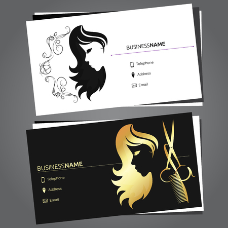 Business card for beauty salon and hairdresser
