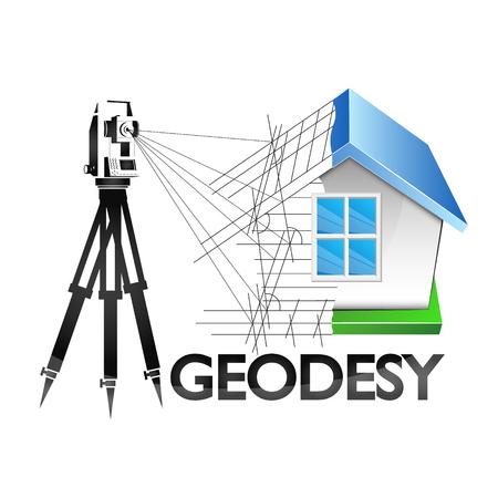Geodesia es un símbolo para un topógrafo de negocios