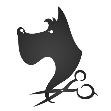 Barber shop for dogs and other animals Illustration