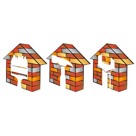 家の修繕設計ビジネス シンボル
