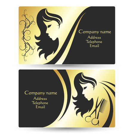 Business card for beauty salon and hairdresser concept