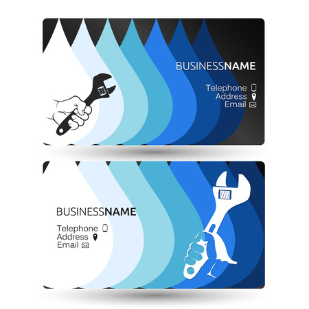 Plumbing business card concept for repair and maintenance