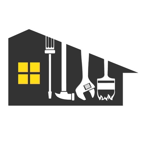Repair a house symbol for business, vector illustration.