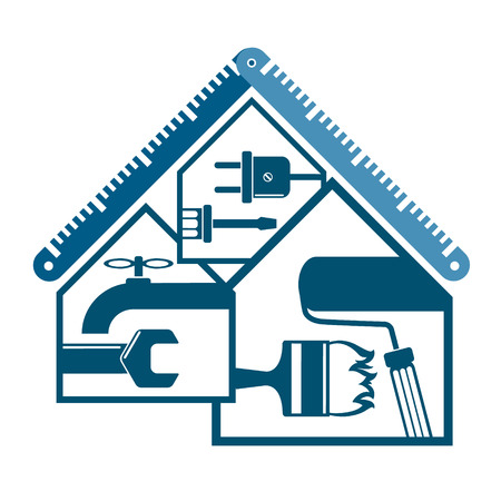 Réparation et maintenance du symbole de la maison pour les entreprises