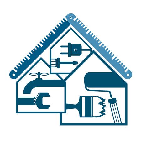 Reparatie en onderhoud van huissymbool voor zaken