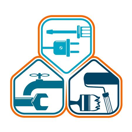Home repair design business symbol