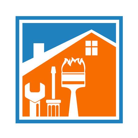 修理と建設のシンボル。