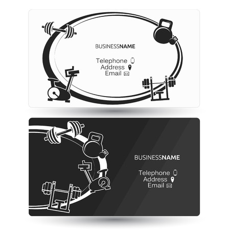 Business card for a gym and fitness center