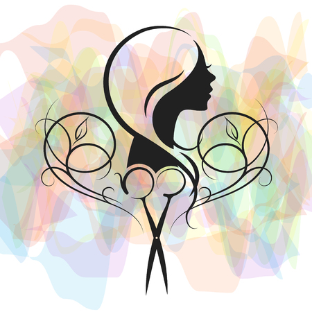 Beauty salon and hairdresser for women symbol.