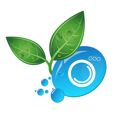 Symbol for bio cleaning and washing Illustration