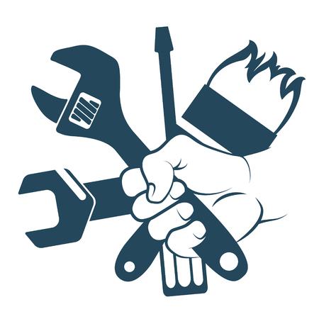 Tool for repair in hand symbol