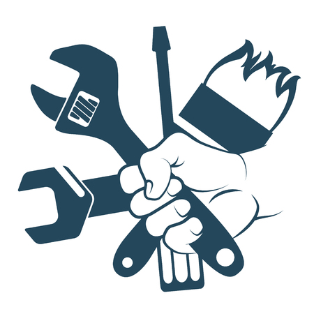 Tool for repair in hand symbol