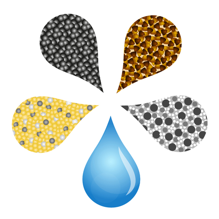 Filter for water drops design vector