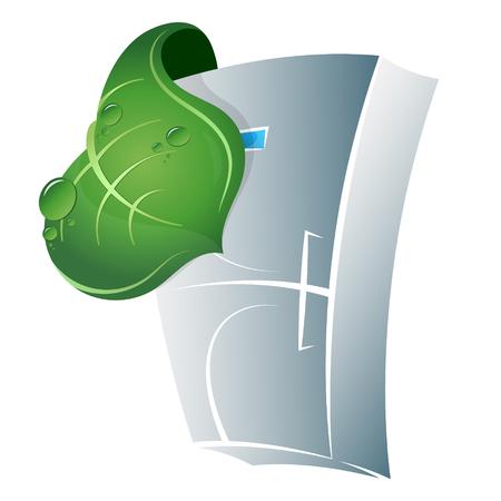 Refrigerator class electricity electricity illustration for business Reklamní fotografie - 94703863