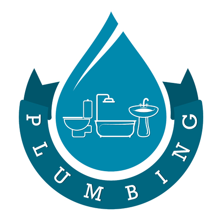 Plumbing repairs and maintenance symbol for business