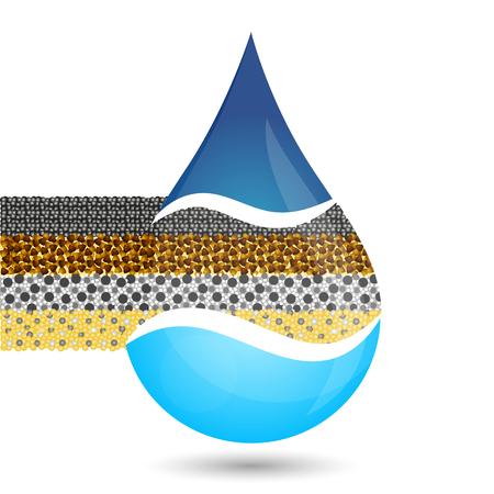 Filtration water symbol for business vector illustration. Illustration