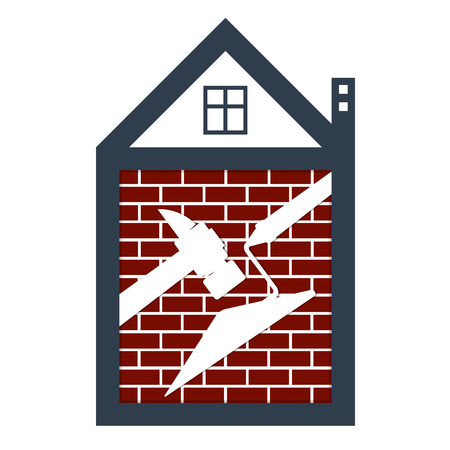 Building and repair of housing symbol for business