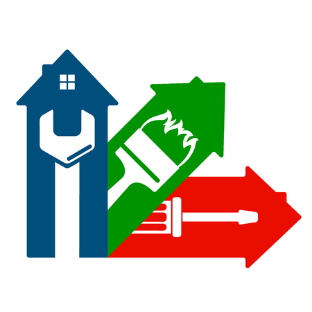 Housing service design symbol for business Vectores