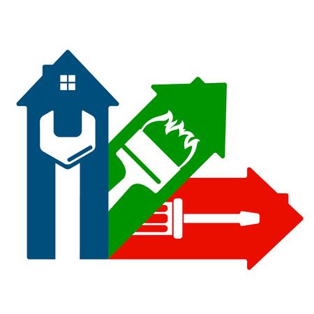 Housing service design symbol for business Illustration