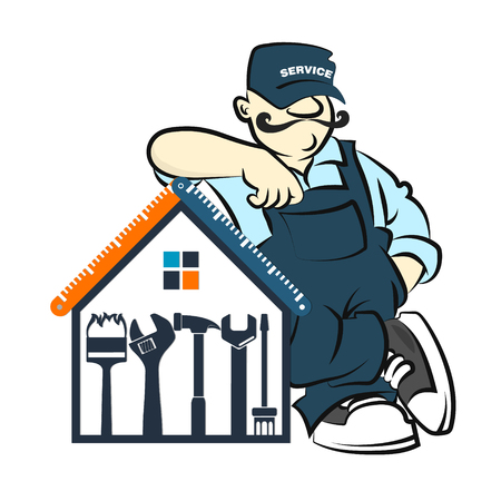 Master of repair and maintenance of house vector