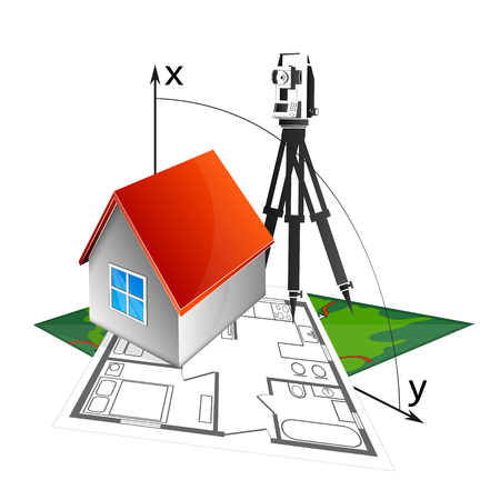House project and geodesic device symbol vector illustration