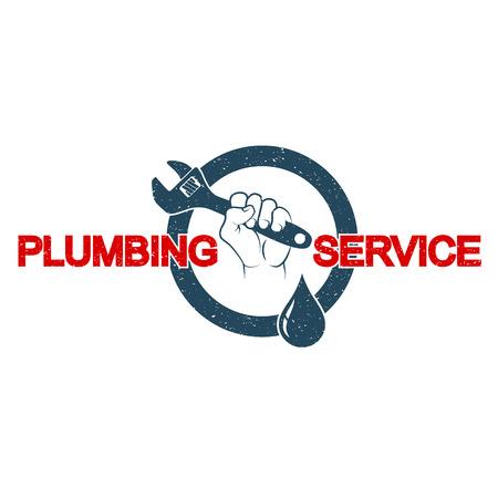 Plumbing plumbing in hand symbol vector Vectores