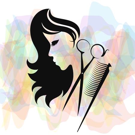 Silhouette di salone di bellezza e parrucchiere per le imprese