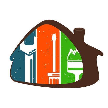 House repair with symbol tool for business