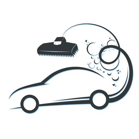 Cleaning and car washing symbol illustration. Illustration