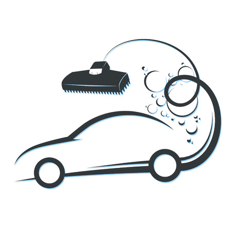 Cleaning and car washing symbol illustration. Illustration