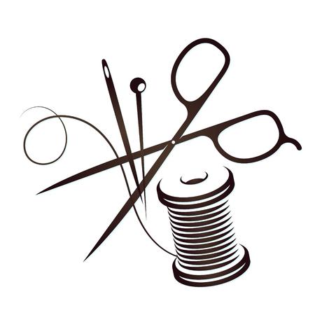 Juego de herramientas para coser siluetas