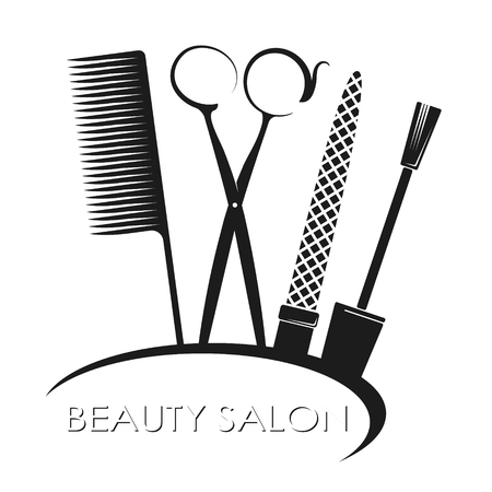 Manicure and beauty salon symbol for business