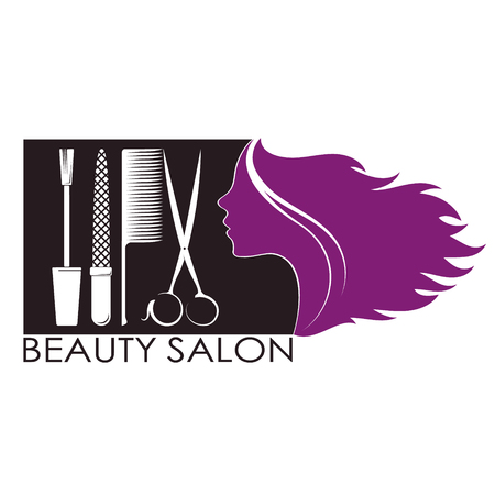 Manicure and beauty salon for women symbol for business
