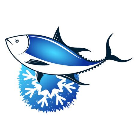 Simbolo dei frutti di mare freschi surgelati del tonno