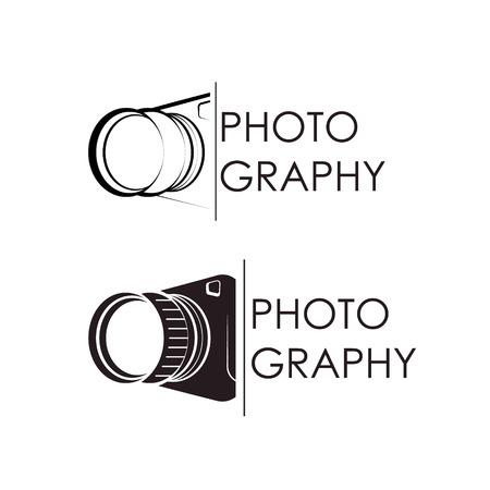Camera silhouette symbol for photographer Vettoriali