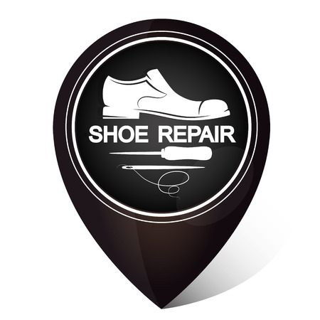 Shoe repair symbol for business Ilustracja