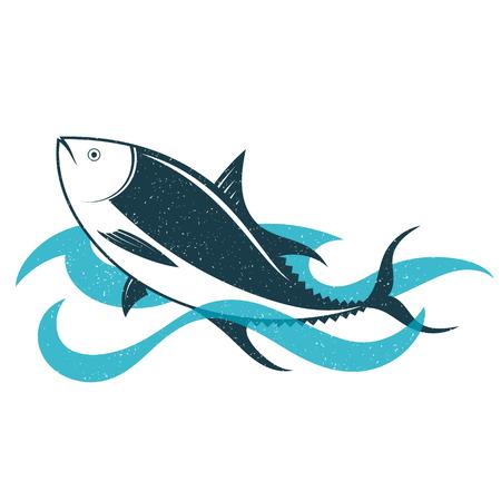 Tuna on blue wave vector